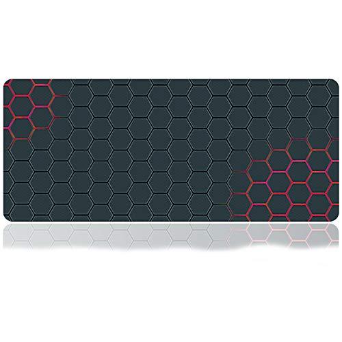 Großes Gaming-Mauspad, Mauspad mit genähtem Rand, rutschfeste Gummiunterseite, mit tragbarer Tasche, für Desktop, Laptop, Tastatur, Konsolen und mehr, 89,9 x 39,9 x 0,1 cm