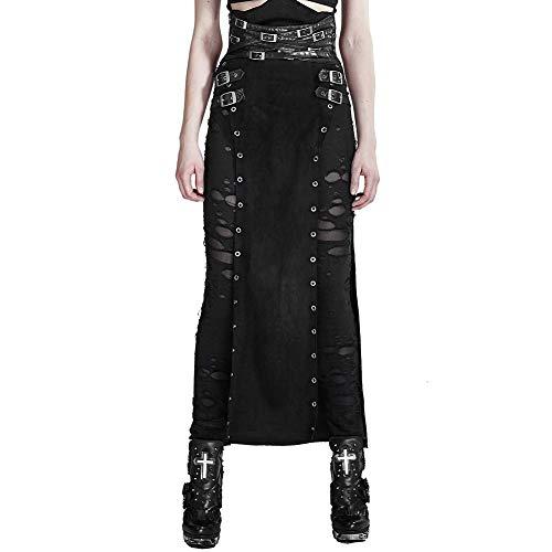 Punk Rave - Falda - Skort - para Mujer Negro Negro (40 (Ropa)