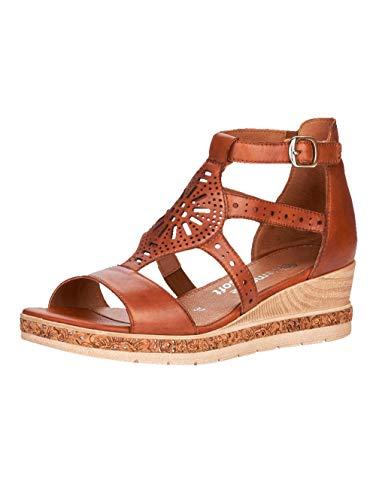 Remonte Femme Sandales, Dame Sandales compensées,Sandales compensées,Chaussures d'été,Confortable,Plat,Muskat / 24,38 EU / 5 UK