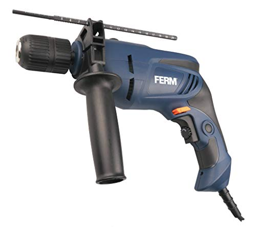 FERM Schlagbohrmaschine 800W - 13mm - Variable Geschwindigkeitskontrolle - Soft griff - Bohrtiefenanschlag