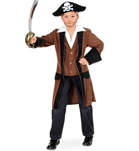 KarnevalsTeufel Kinderkostüm Pirat Mantel in braun Seeräuber Freibeuter (140)