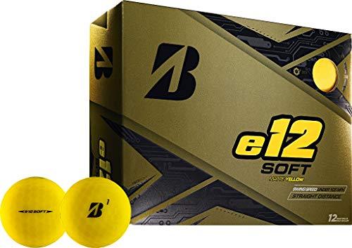 Bridgestone Golf e12 Soft - Pelotas de golf, color amarillo