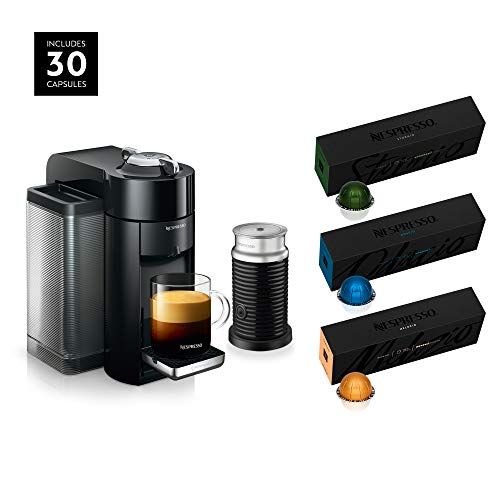 Nespresso Vertuo Coffee and Espresso Machine Bundle by De