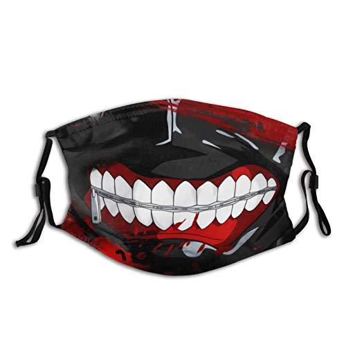 Other1 Kaneki Ken Dust Face Mask Adjustable Mouth Mask Balaclava Halloween Mask with Filter for Kids Teens Men Women