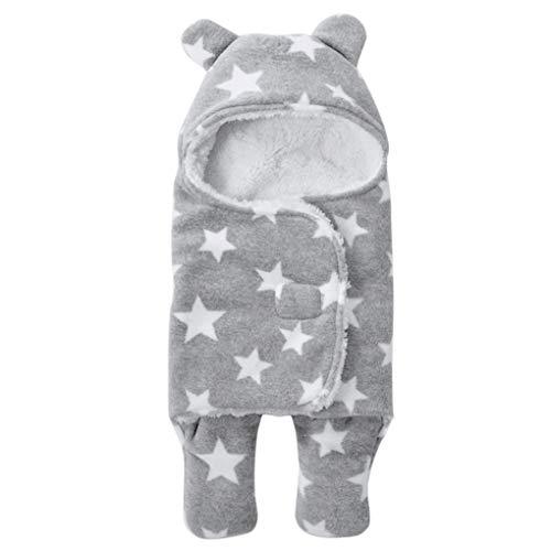 Saco de dormir para bebé con estampado grueso para recién nacido, saco de dormir con las...