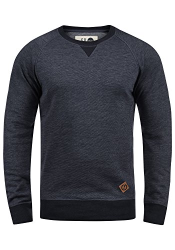 !Solid VituNeck Herren Sweatshirt Pullover Pulli Mit Rundhalsausschnitt, Größe:XL, Farbe:Insignia Blue Melange (8991)