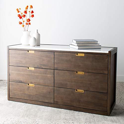 Safavieh Couture Home Adeline Modern Dark Chocolate Brown 6-drawer Dresser