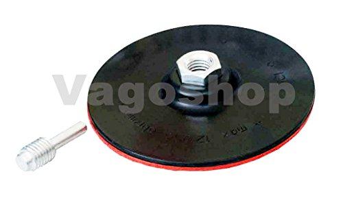Steunschijf 125 mm slijpschijf klittenband met spandoorn M14 voor boormachines
