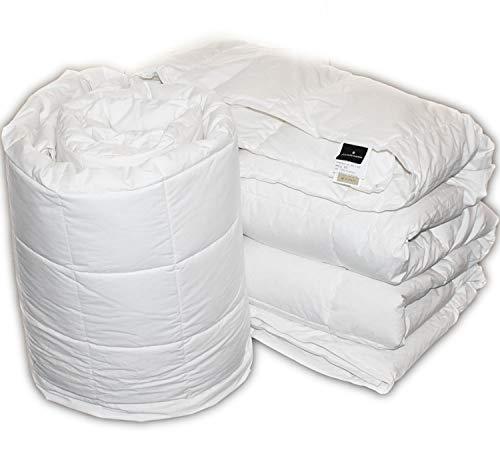 Molina iDream Deckbett / Daunendecke, 100 % sibirische Gänsedaunen, 4 Jahreszeiten, kombinierbar ***+* double size bed 200 x 200 cm, Weiß