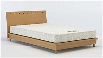 フランスベッド 脚付き ベッドフレーム ビーチ色 ダブルロングサイズ  【3個数】 NLS-606