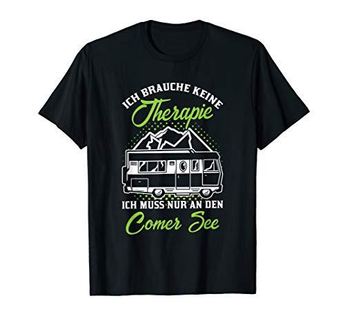 Comer See Camper - Witziger Italien Campingurlaub Spruch T-Shirt