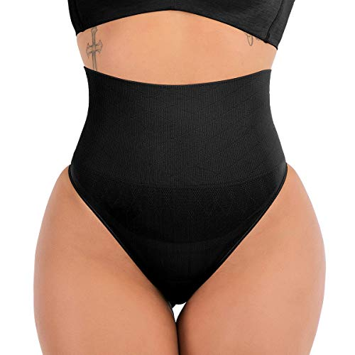 DODOING Women High Waisted Tummy Control Thong Pants Knickers Underwear...