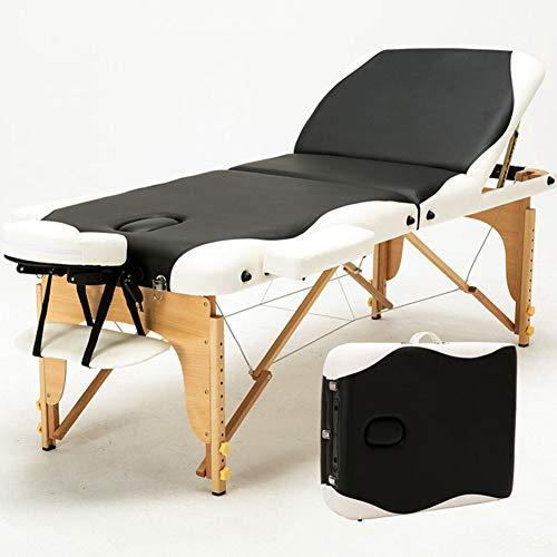 Table De Massage Lit Pliante 3-section Professionnel Portable Ergonomique Table Canapé Pieds En...