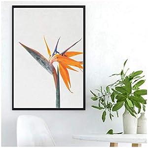 DAQIANSHIJIE Poster Flower Poster Bird of Paradise Silk Print Home Decor Wall Art Decor -60X80Cmx1 No Frame