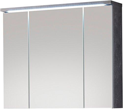Wohnorama Spiegelschrank inkl LED Beleuchtung Pool von Bega Beton/Weiss by