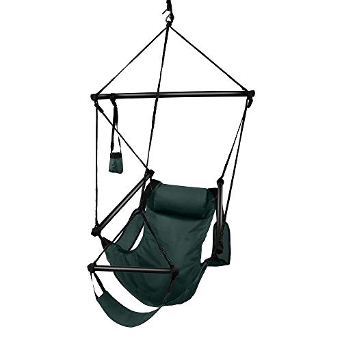 Hammaka Hanging Hammock Air Chair, Aluminum Dowels, Green