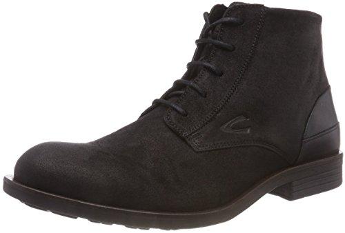 camel active Herren Check 12 Biker Boots, Schwarz (Black 4), 45 EU