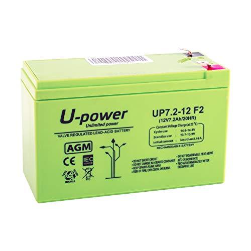 potente para casa Batería de plomo-ácido AGM7.2 Ah 12 V FASTON F2 6.3 mm