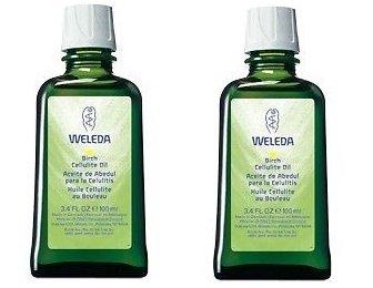 WELEDA Aceite Anticelulítico de Abedul Pack 2 unidades+Masajeador