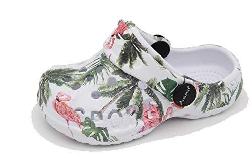 Antonio Clogs - Zapatillas de casa para bebé, ligeras, zapatillas de jardín, zapatos de goma, color Multicolor, talla 21 EU