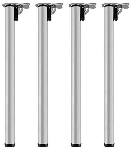 Set de 4 unidades Juego de patas extensibles de mesa 20 mm Altura regulable 820 mm Sossai/® Est/ándar STBGS Dise/ño: Aero inoxidable cepillado