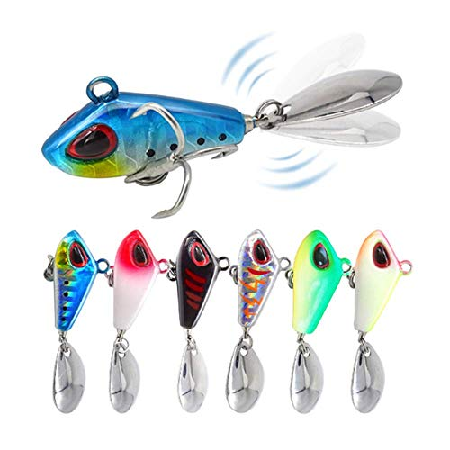 FNAPE 6 piezas spinning pesca señuelos pesca señuelos de pesca spinning señuelos lubina señuelos de pesca peces artificiales pesca (10g)