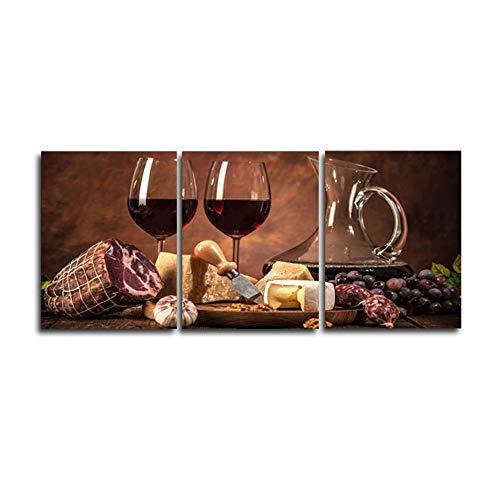 Weinglas Stillleben Realismr Leinwand Malerei Drucke Bild Für Wohnzimmer Haus Wanddekorkunst Home Decoration3x50x70cm Kein Rahmen