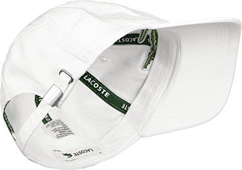 Lacoste RK8217 Gorra de béisbol, Blanco (Blanc), Talla única (Talla del Fabricante: TU) para Hombre