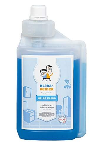 Nettoyant universel et éliminateur d'odeurs ProBIOtic. Micro Miracle 841 de Klara & Reiner. Concentration élevée de 1 litre pour des nettoyants prêts à l'emploi jusqu' à 50 litres. SANS SUBSTANCES DANGEREUSES!