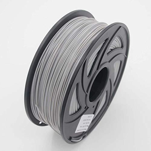 WSHZ Filament pour imprimante 3D ABS, précision dimensionnelle de +/- 0,02 mm, 1 Bobine, Paquet de 1 à 10 bobines, pour Impression 3D (Gris, 380M),10volumes
