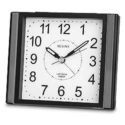 Bulova B1872 Moonbeam Alarm Clock, Black
