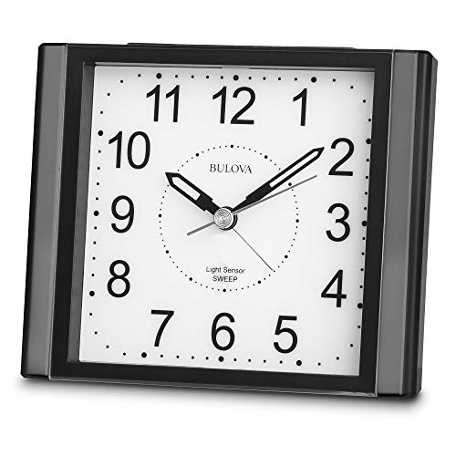 Bulova B1872 Moonbeam Alarm Clock, Black