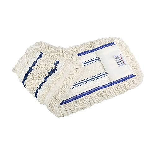 Baumwoll Wischmop 40 cm mit Mikrofaser Ersatz für Mop Klapphalter - Wischmoppbezug , für Versiegelung Reinigung von Bodenbeläge wie Laminat, Dielen, Fliesen Feudel, Bodenwischer Ersatzbezug (1)