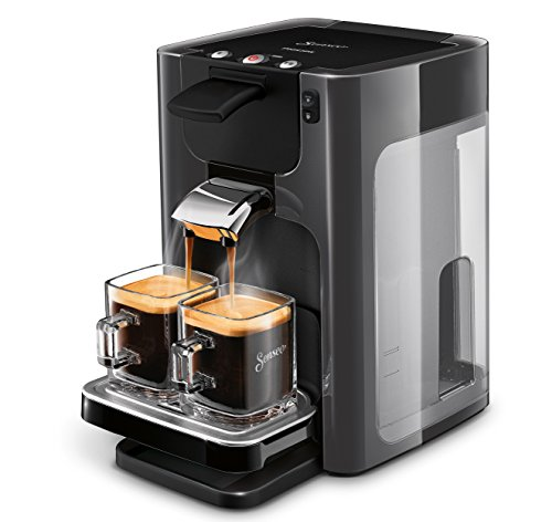 Senseo Quadrante HD7866/21 - Cafetera (Independiente, Máquina de café en cápsulas, 1,2 L, Dosis de café, 1450 W, Gris)