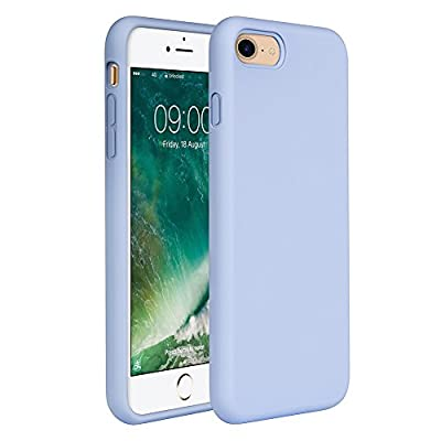"""iPhone 8 Case Liquid Silicone, iPhone 7 Silicone Case Miracase Gel Rubber Full Body Protection Shockproof Cover Case Drop Protection for Apple iPhone 7/ iPhone 8(4.7"""") (Clove Purple)"""