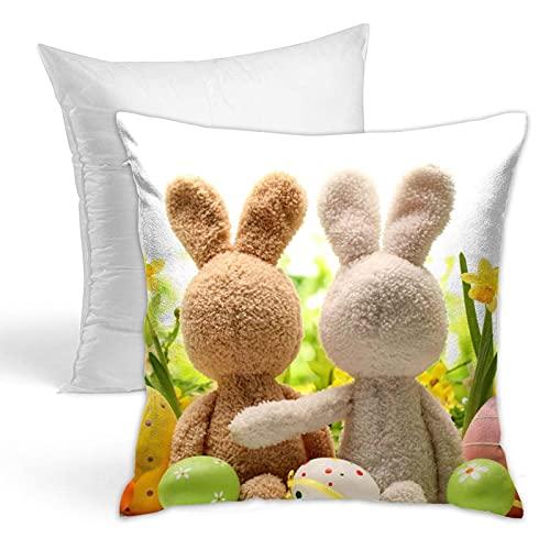 HUBNYO Conejo relleno 45 x 45 cm almohada popular sostener almohada conveniente para el cojín del sofá y la almohada de la cama almohada de la manera