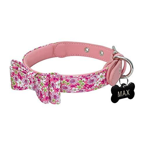 XIAOLANGTIAN Collar de Piel Acolchada para Perros pequeños Chihuahua Yorkie con inscripción en inglés