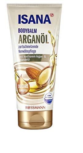 ISANA Bodybalm Arganöl - zartschmelzende Verwöhnpflege - mit kostbaren Argan- & Mandeöl - 200 mL