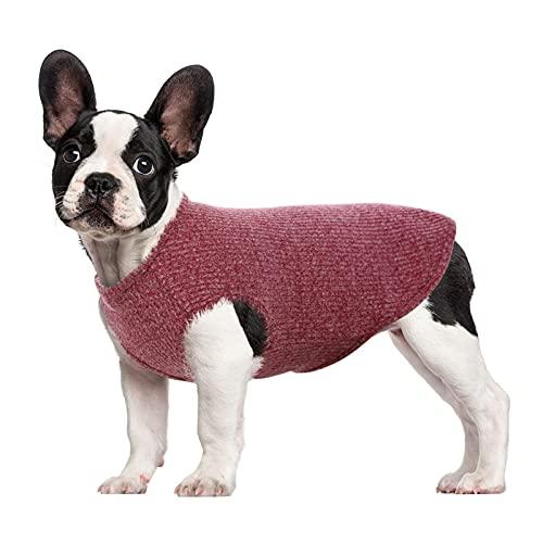 HJUMARAYAN: Camisa para perros pequeños, gatos o mascotas, a rayas, camiseta de verano, chaleco para cachorro, básico, sin mangas, de algodón suave, para chihuahua (rojo, XS)