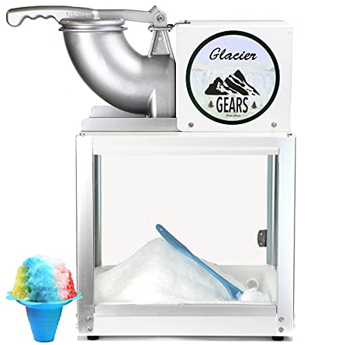Glacier Gears Snow Cone Machine Commerical Shaved Ice Maker - Chariot