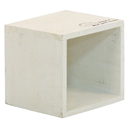 不二貿易 収納ボックス CD収納 幅16cm ホワイト 木製 アンティーク風 moku 91747