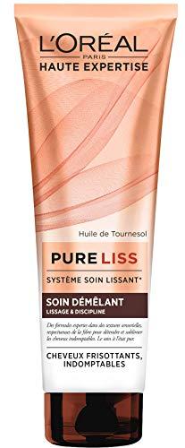 L'Oréal Paris Pure Liss Soin Démêlant à l'Huile de Tournesol - Lissage & Discipline - Cheveux Frisés & Indomptables - 250 ml