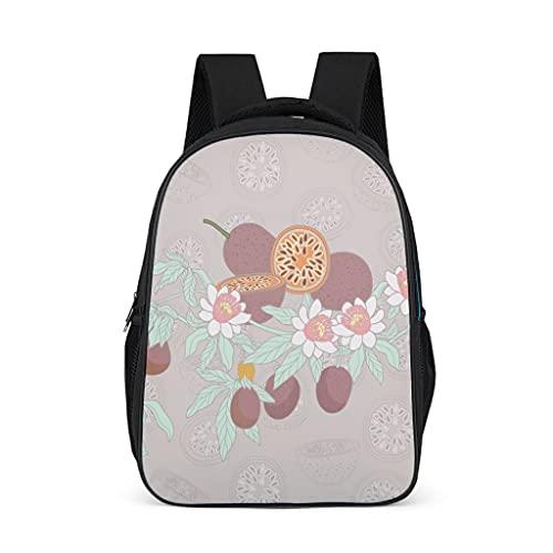 Hinfunees Zaino per la scuola tropicale con fiori e piante floreali, borsa per libri vintage per ragazzi, Grigio acceso., Taglia unica