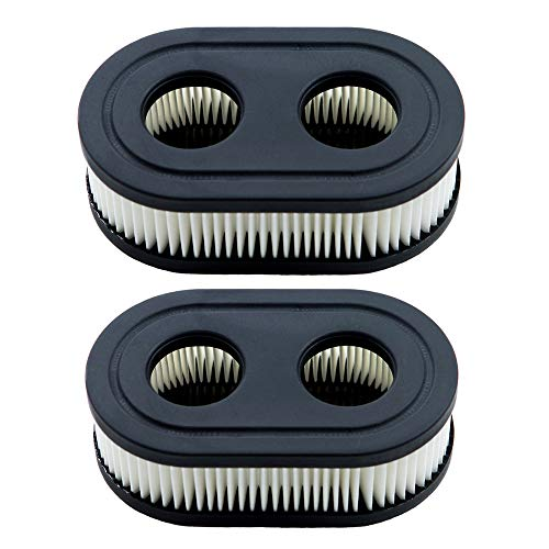 HOODELL 2 Pack 593260 Air Filter, Compatible for Briggs and Stratton 798452, Troy Bilt TB110, Premium Lawn Mower Air Cleaner