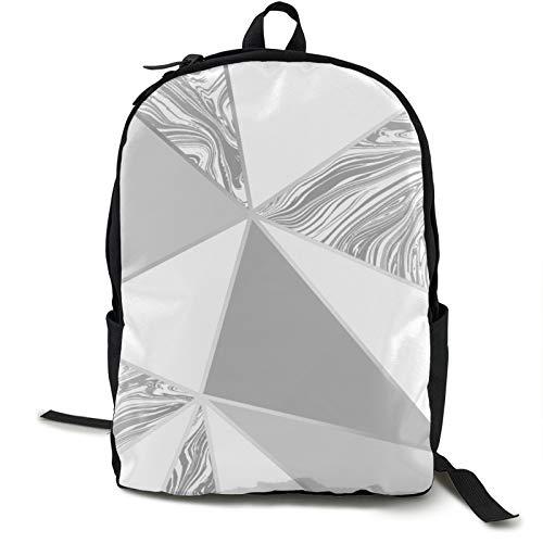 Leichter Rucksack, faltbar, ultraleicht, verstaubarer Rucksack, Zara Marmor, metallisch, weich, grau, silber, Unisex, langlebig, handlich, Tagesrucksack für Reisen und Outdoor-Sportarten