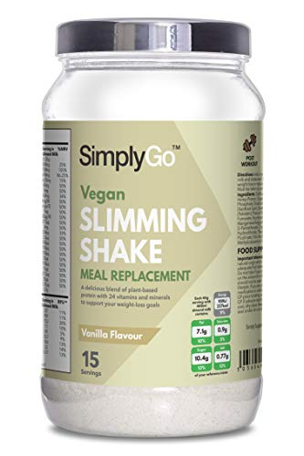 Slimming Shake for Vegans | Dairy-Free | Low in Calories | Made in the UK (Vanilla)