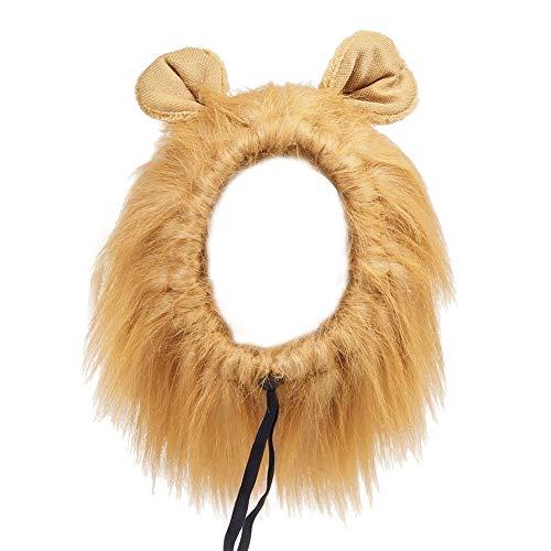 Hffheer Disfraz de león para Perro, Diadema de Orejas de león, Conjunto de Disfraces de Orejas de león para Mascotas, Perros, Gatos, Fiesta de Navidad, celebración del Festival