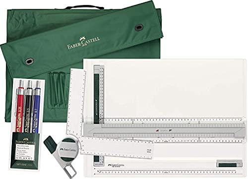 Planche à dessin technique Faber Castell TK System A3 + Équerre pour planche + sac de transport A3 + ensemble de 3 porte-mines TK