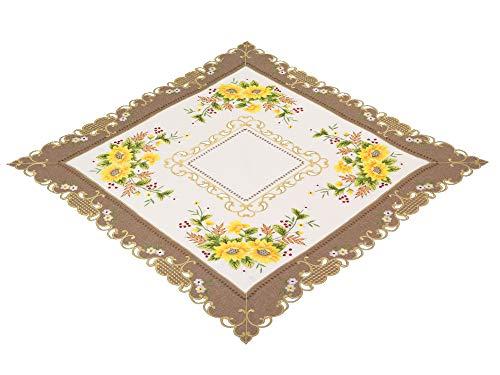 Espamira Tischdecke Mitteldecke Decke Kaffeedecke 85 x 85 cm Tischdeko Deko Sonnenblumen