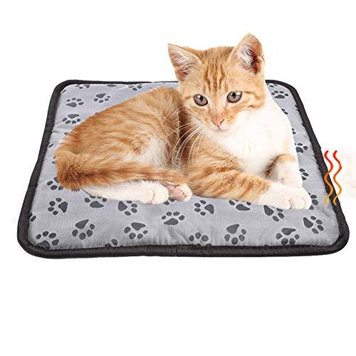 evergremmi Haustier Heizkissen, Hund Katze Elektrische Heizdecke, Wasserdicht Anti-Biss Einstellbare Temperatur Wärmekissen Matte für Katze, Hund und andere Kleintiere (45 * 45 cm)